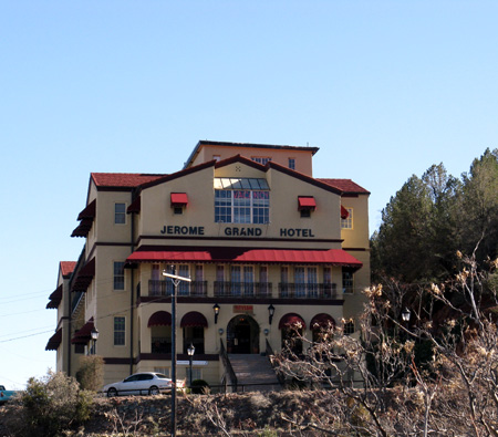 The Jerome Grand Hotel, said to be haunted, and a bit funky. It's restaurant is called The Asylum and features a Freudian Slip martini