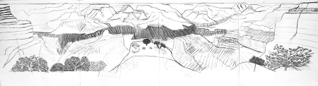 Hockneycharcoal_closer_canyon_98